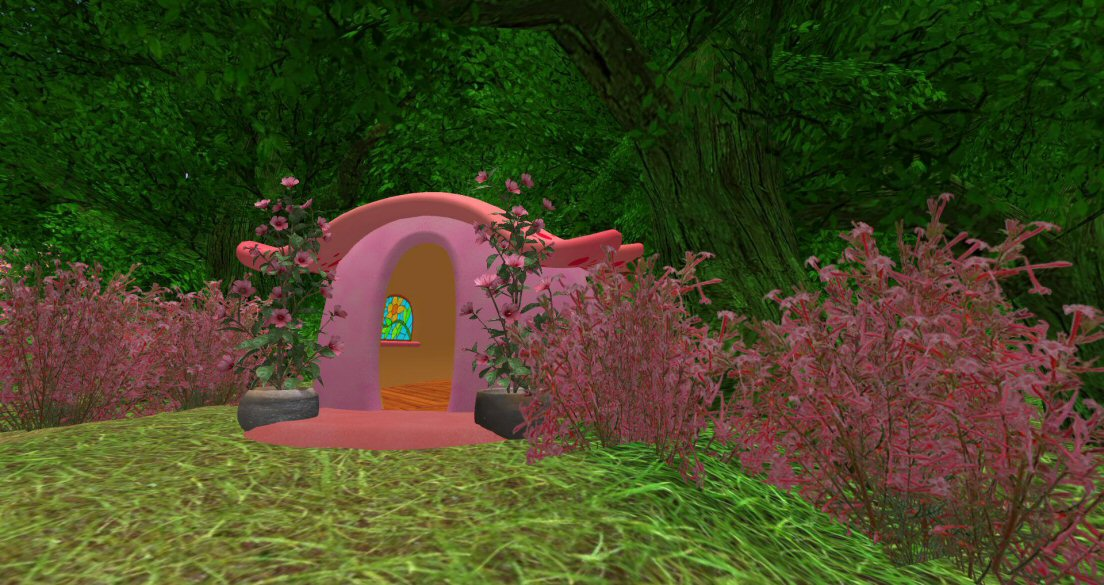 Fest of the 8th birthday of Inworldz: Elven homes, 2017
